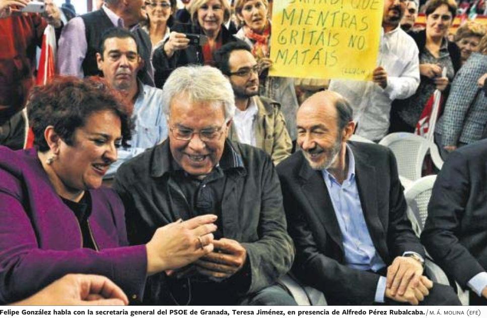 Resultado de imagen de fotos de Rubalcaba y demás próceres socialistas