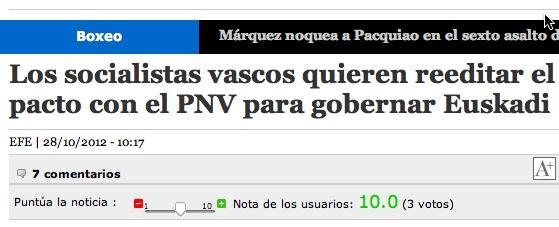 PSE se ofrece al PNV