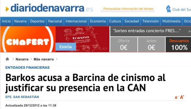 Barkos a Barcona cínica