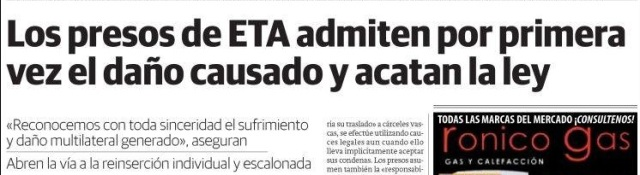 Portada Diario Vasco