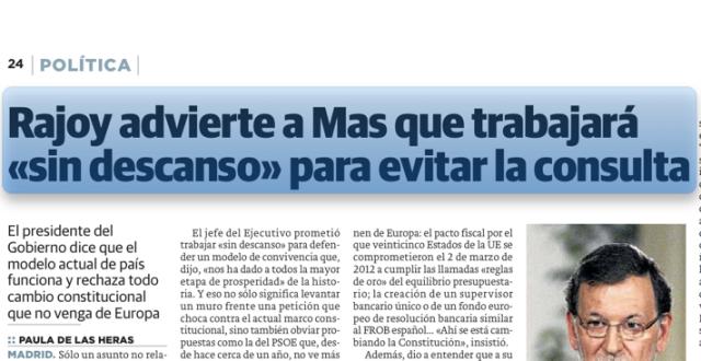 Rajoy trabaja