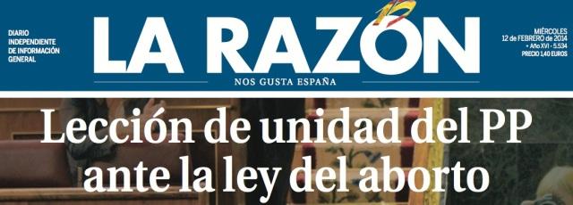 POrtada La Razón