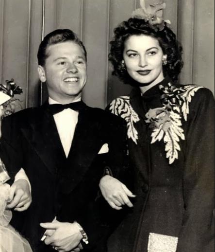 Mickey Rooney y Ava Gardner