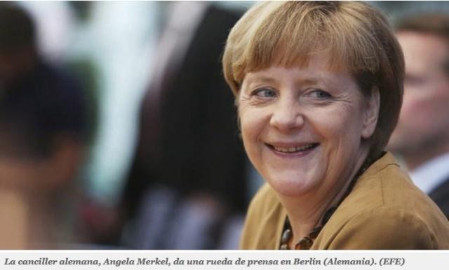 Merkel apoya a Rajoy