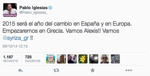 Pablo Iglesias Syriza