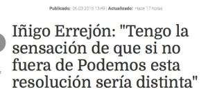 Si no fuera de Podemos