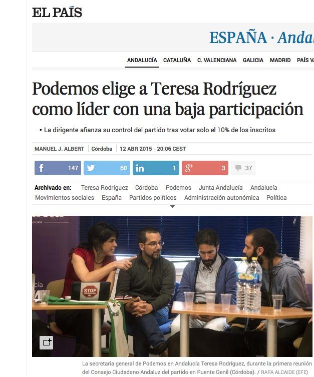 El País baja participación