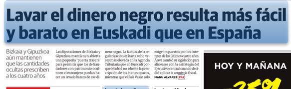 Euskadi y España, conjuntos disjuntos