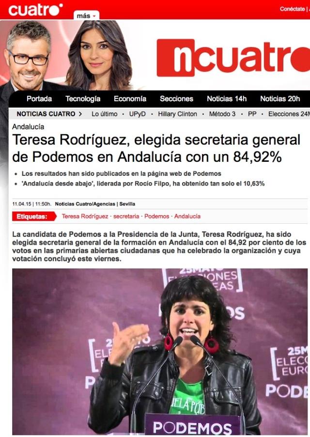 La Cuatro Teresa 85%
