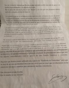 carta buzón Joseba