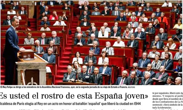 Rey en la Asamblea Nacional