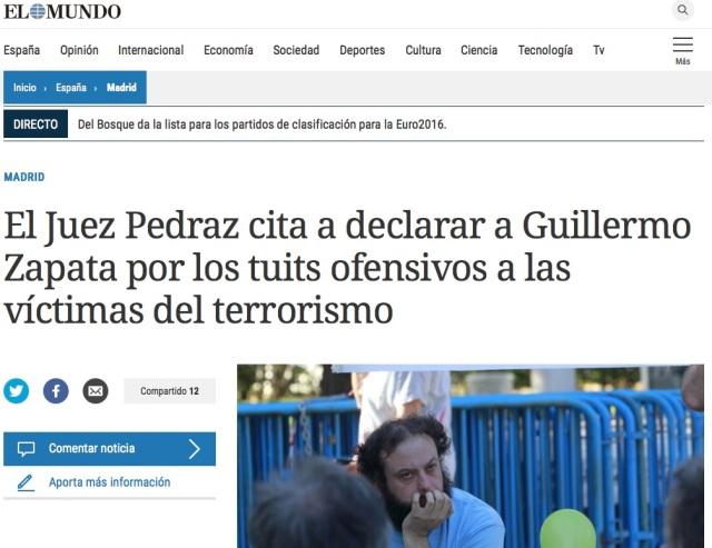 Pedraz cita a Zapata