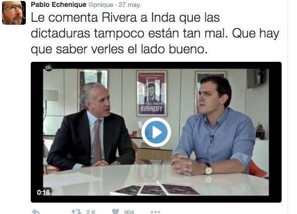 Rivera con Inda