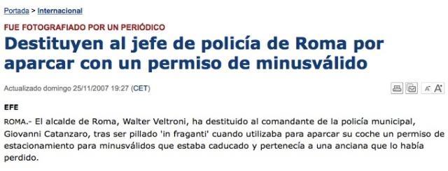 Jefe Policía Roma
